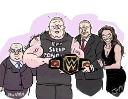 Brock Lesnar WWE World Heavyweight Champion by JonDavidGuerra