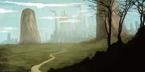 Road to the Castle by ehecod