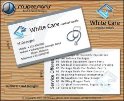 White Care M. S. Business Card by mjamil85
