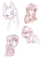 HTTYD Sketches 2 by RamblinQuixotic