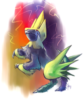 Manectric doodle by Haychel