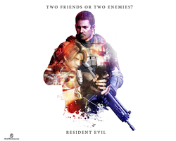 leon s kennedy vs chris redfield by zxgame