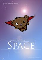 Teddy Bear from Space Poster by DukeBannon