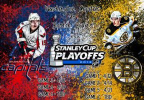 Washington Capitals Vs Boston Bruins by Sammzor