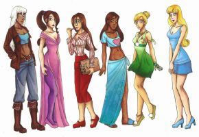 Modern Disney Girls 2 by CarmenFoolHeart