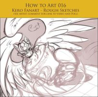 How to Art 017 - Kero + Pudding Refined Sketching by SeraphicMayin