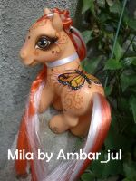 My little pony Mila Butterfly by AmbarJulieta