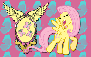 Fluttershy CoA WP by AliceHumanSacrifice0