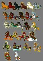 saddle horses by mozhiyaoe