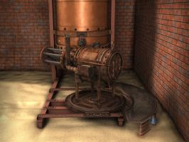 Steampunk Gatling Gun by 3Dapple