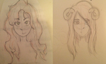 Traditional Doodles - Aradia and Rachel by Rotton77