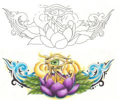 Freebies Tattoo Designs Lotus by TattooSavage