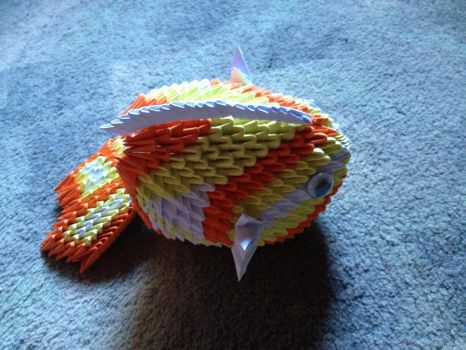 3D origami fish by TILLY001
