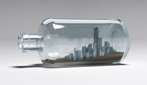 city in the bottle by Pushok-12