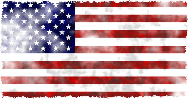 Grunge Flag of the United States of America by DoodlePrawn