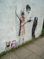 Banksy - Glastonbury by jebus139