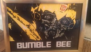Transformers Bumble Bee papercut framed by swiftflik