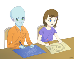Drawing - Megamind by Irrel