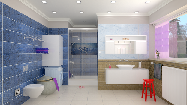 Large bathroom v2 by kenancakir