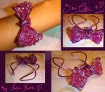 Violet Bow Cuff by colourful-blossom