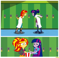 Sunset Shimmer vs Twilight Sparkle by CoNiKiBlaSu-fan