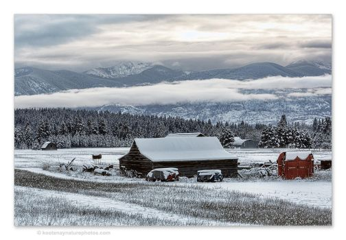 Winter Farm by kootenayphotos