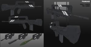 Famas assault rifle by Steel123