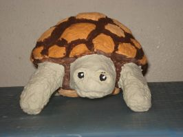 Paper Mache Turtle by Lyndsey-Catastrphe