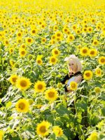 Rin chan with Lots of Sunflowers by RikoMaeda