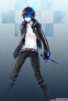 Male black rock shooter by Slasheredge