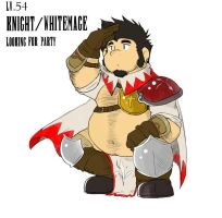 Knight Whitemage needs party by FatYogi