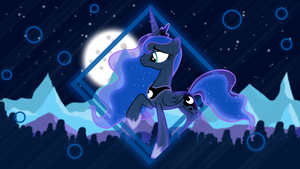 Mountains Night (Princess Luna Wallpaper) by minhbuinhat99