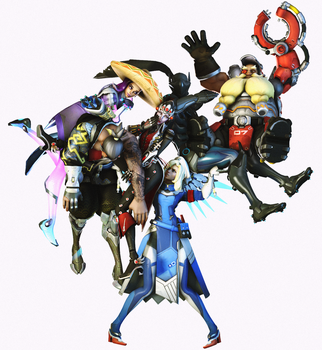 Mercy is always carrying the non-meta team by suijingames