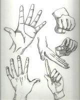 Hand Sketches - Inked by TalentlessHacked
