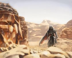Ezio's journey to Masyaf by JophielS