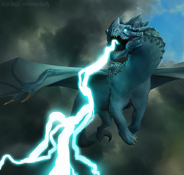Storm Dragon by Monsieur-Beefy