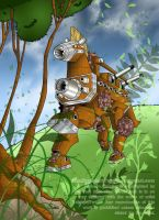 The Ancient Warrior of Wood by Galistar07water