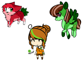 Themed Adoptables- Fruit (Set 1) by sherbi