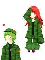 flippy imagining flaky in uniform by YilaX