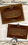 Printable Steampunk Keyboard by VectoriaDesigns