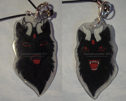 Wolf of Dark Light charm by darkpheonixchild