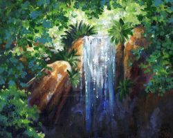 Waterfall Speedpaint by SpaceTurtleStudios