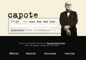 Capote Startpage by AwesomeStart