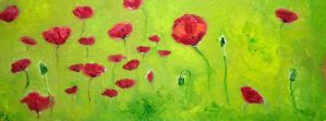 Poppies by NancyvandenBoom