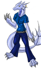 Water Dragon Anthro--for Pr0st by Slifer