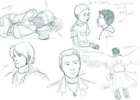 Supernatural Doodles by whisperelmwood