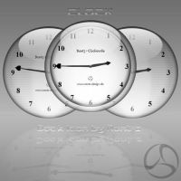 Silver Aqua Clock Icon by rontz