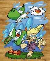 Yoshi and Oogtar by BrendanCorris