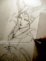 Maleficent WIP by Lehanan