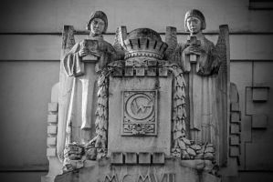 Pair of Angels with Bible and Cross by attomanen